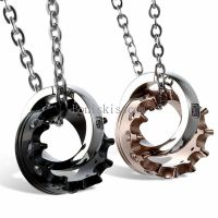 His and Hers Stainless Steel Queen Crown Couple Ring Charm ...