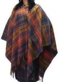 Stunning Scottish Large Tartan Serape / Wrap / Shawl New ...