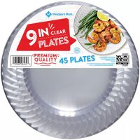 Daily Chef Clear Plastic Plates 9'' 50 Pack Wedding, Party ...
