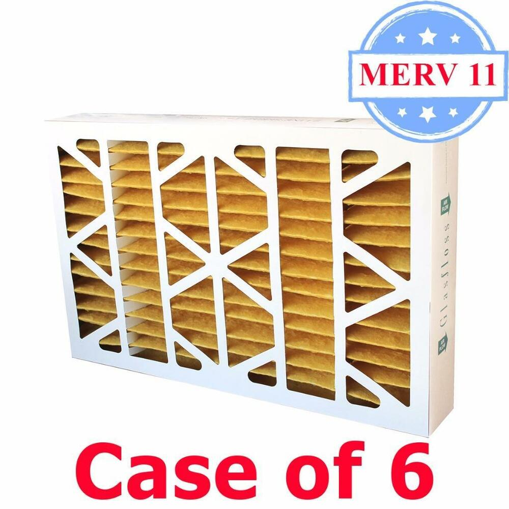 16x25x4 Air Filter Merv 11 Pleated By Glasfloss Box Of 6