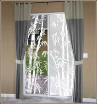 Bamboo Print Clear or Frosted Adhesive-Free Window Film ...