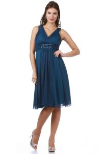 TheDressOutlet Formal Cocktail Plus Size Short Pleated ...