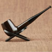 Ebony Pipe Durable Smoking Accessories Wooden Tobacco ...