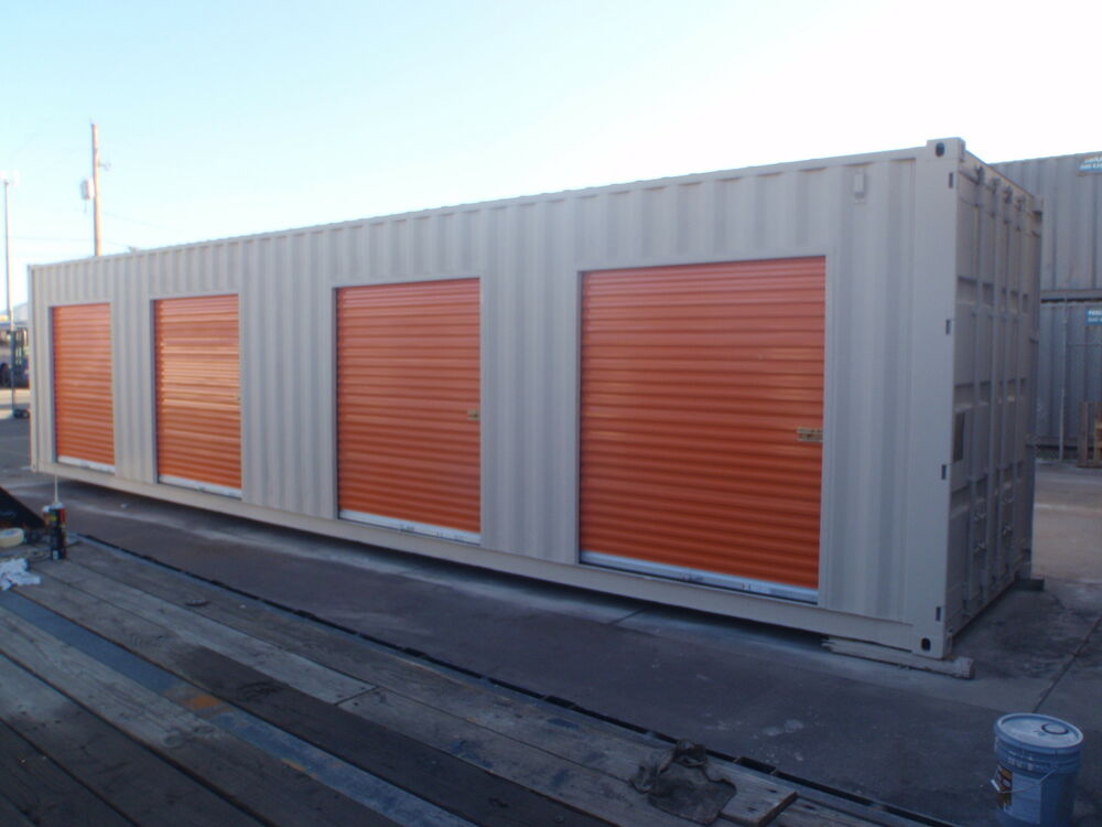 Shipping Container Portable Storage Building With Four Roll Up Doors Ebay - Containers For Storage