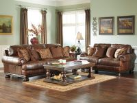 PRINCETON-Large Traditional Genuine Leather Sofa Couch ...