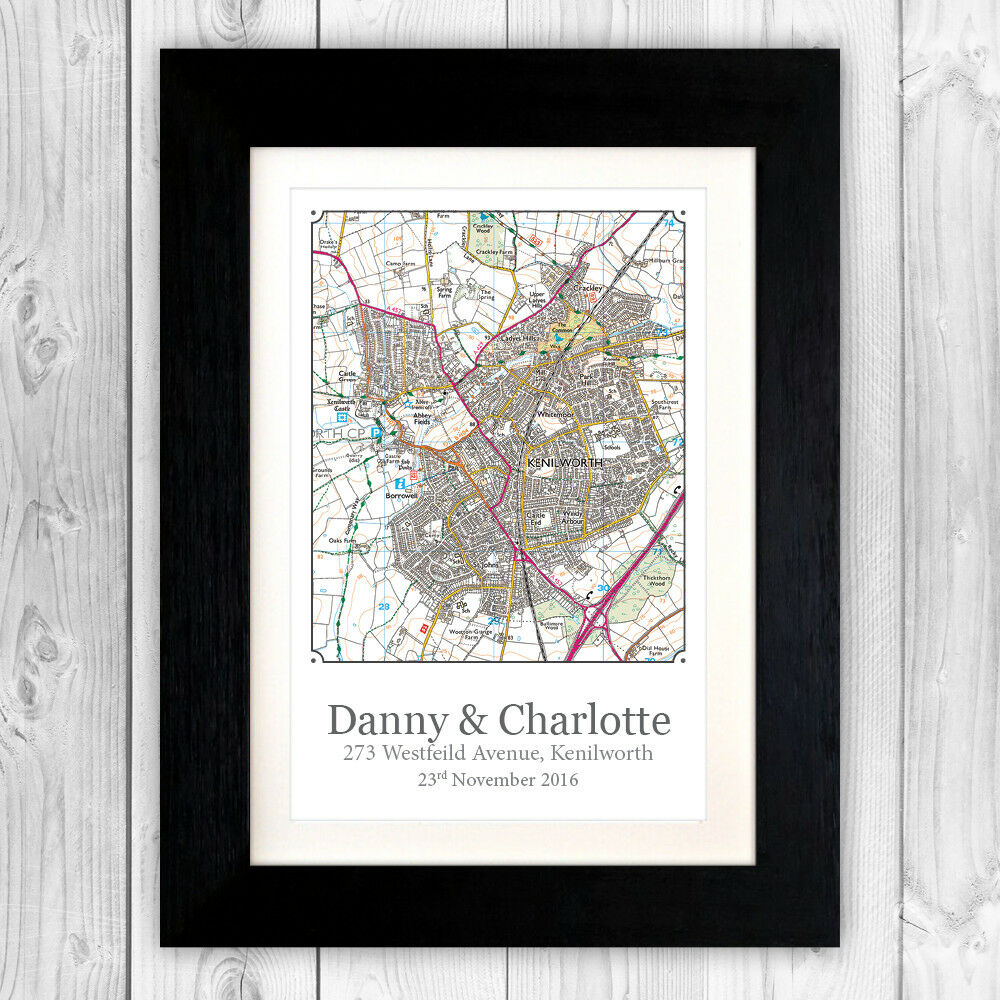 Personalised New Home Gifts New Home Gift Personalised Os Map First 1st House Gift House Warming Va102 Ebay