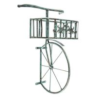 Rustic Antique Turquoise Bicycle Metal Wall Decor with ...