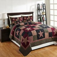 3PC PLUM CREEK KING PATCHWORK BED QUILT SET By OLIVIAS