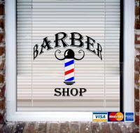 Barber Shop ~ Wall Decal or Store Front Window Decal | eBay