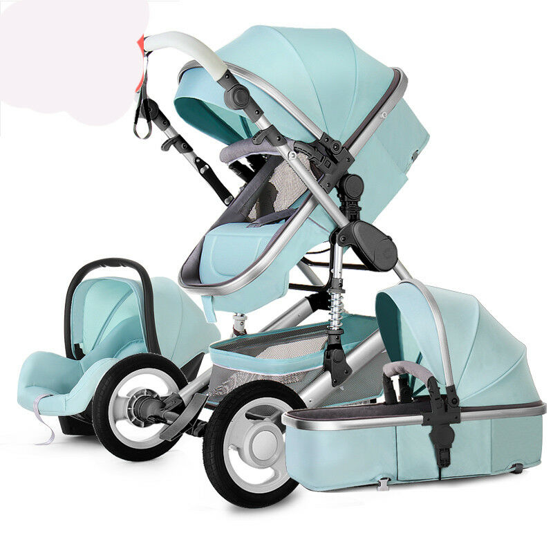Baby Pram Gift Luxury Baby Stroller 3 In 1 High View Pram Foldable