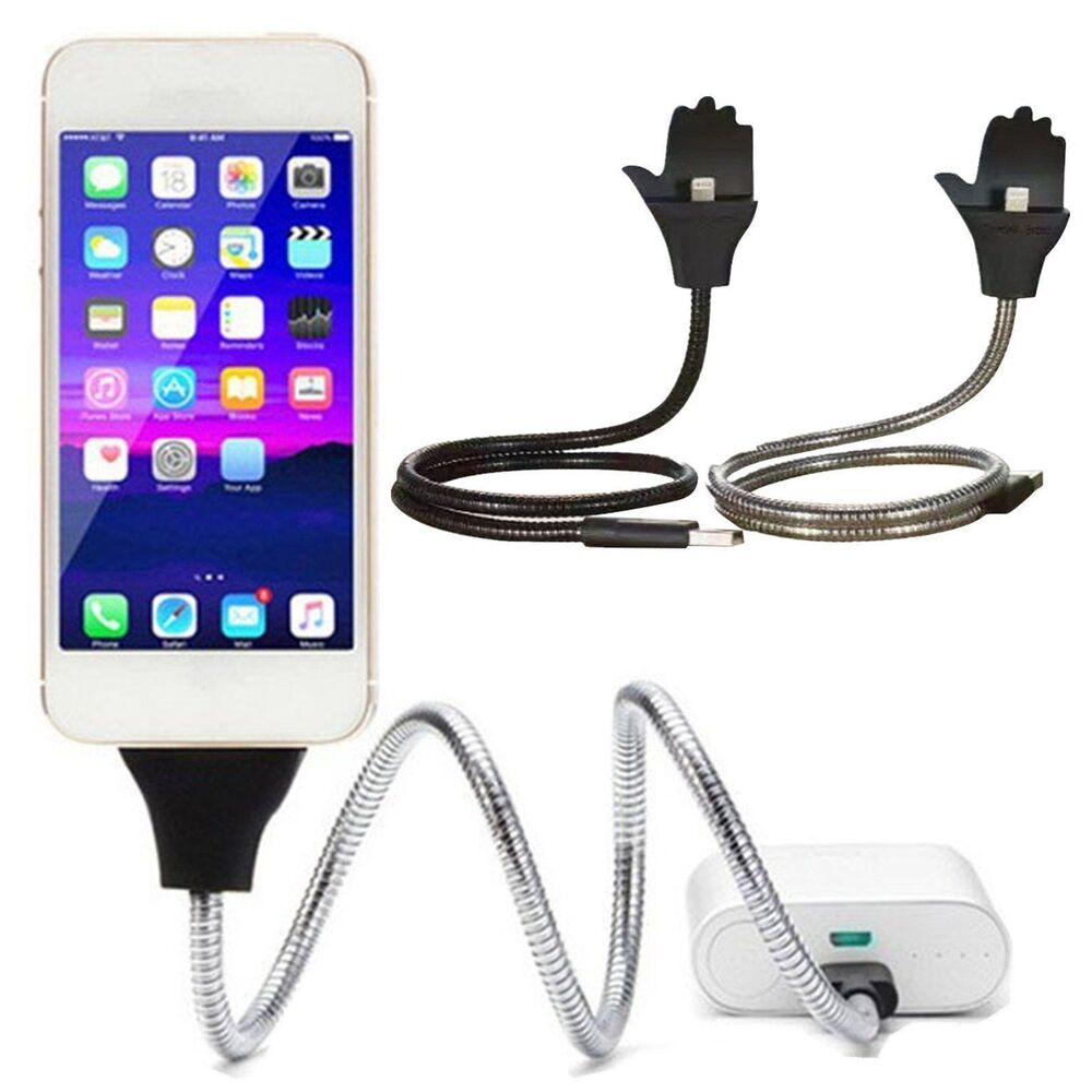 Flexible Charger Cable Wire Cord Charger Holder Dock Stand