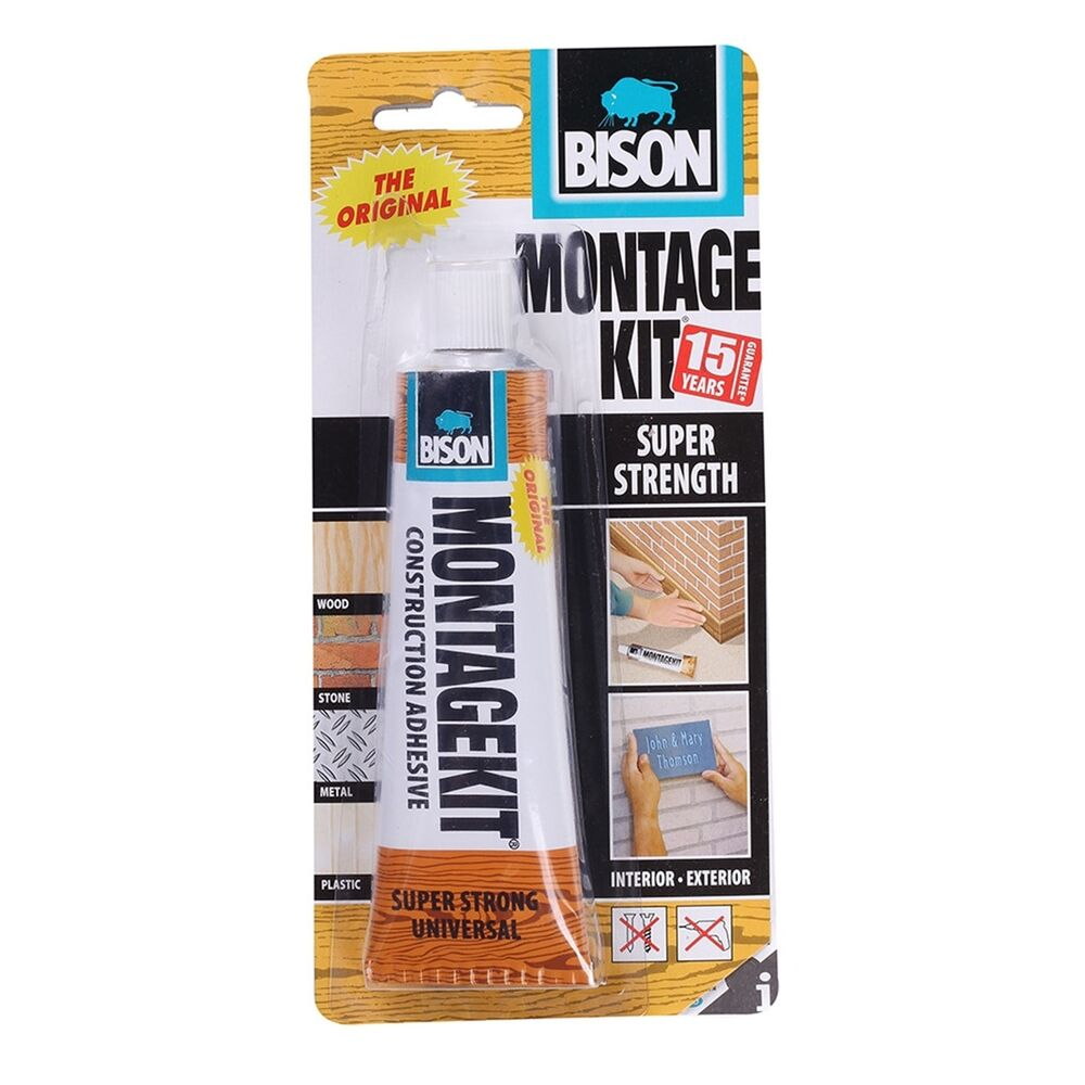 Bison Montagekit Super Bison Montage Kit Super Strength Elastic Universal Construction Adhesive 125g 634041118990 Ebay