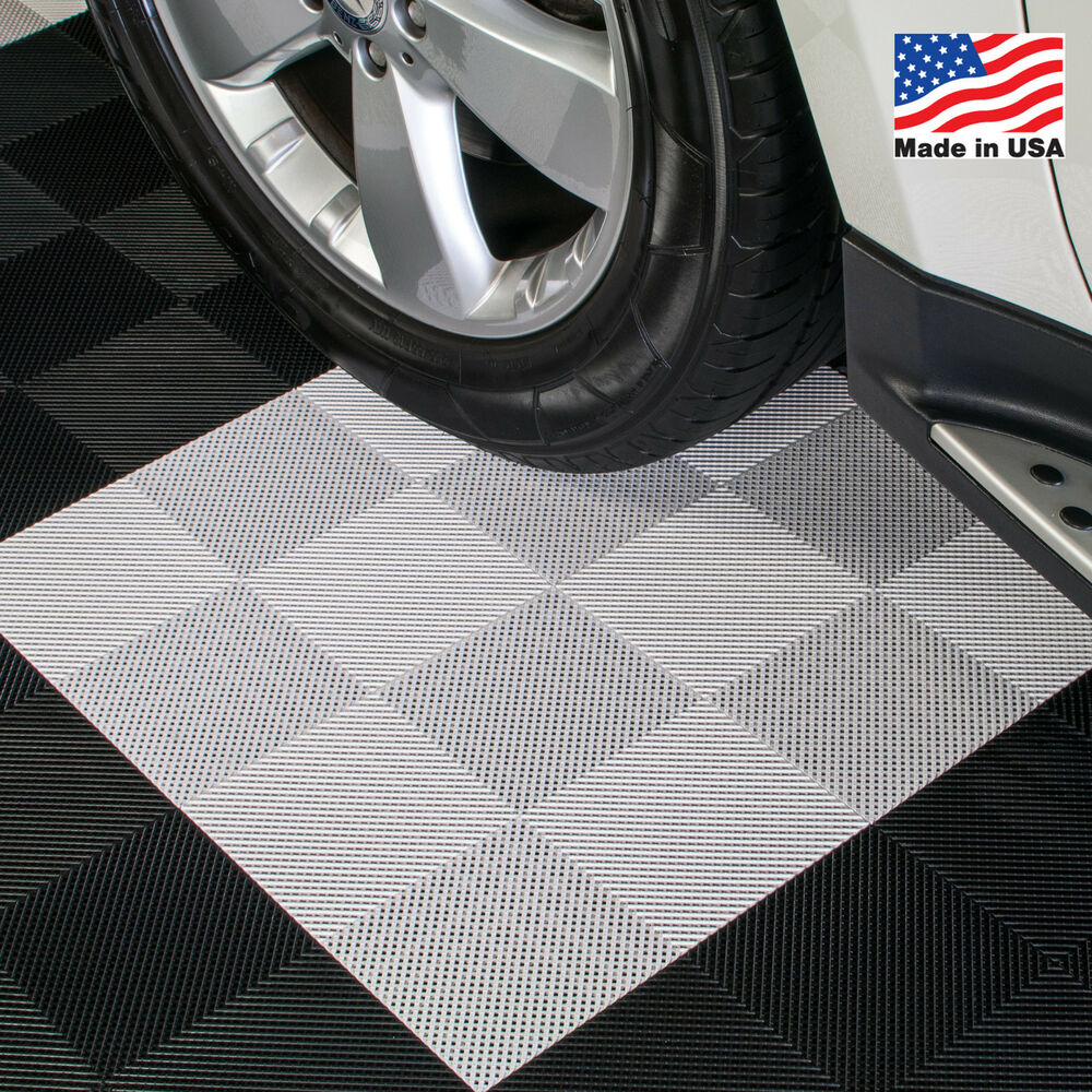 Garage Floor Tiles That Drain Ez Diy Garage Floor Tiles Drain Tiles White Usa Made Ebay