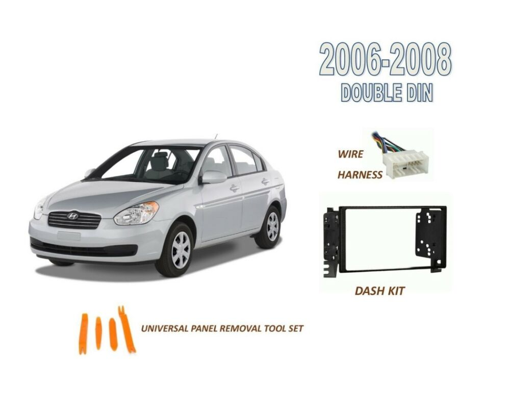Stereo Double DIN Dash Kit for 2006-2008 HYUNDAI ACCENT , Wire