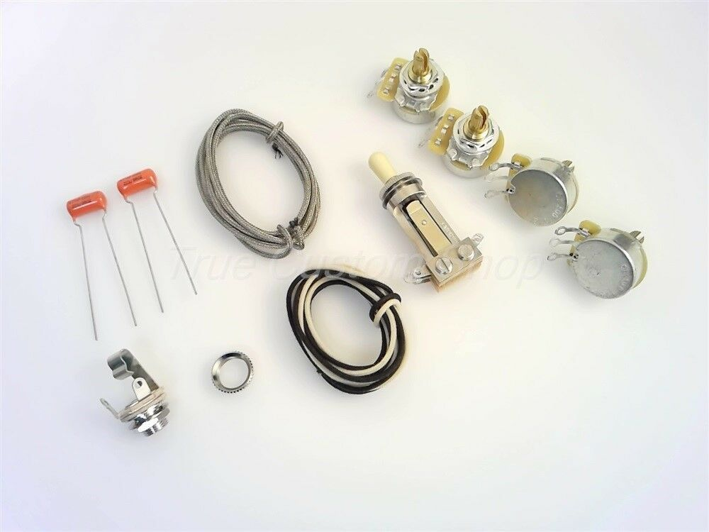 True Custom Shop®Short CTS Pot  Switchcraft Jack Wiring Kit for