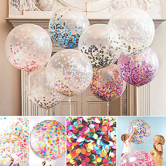 Promotion Table De Jardin Uk 5x Colorful Confetti Balloon Birthday Wedding Party