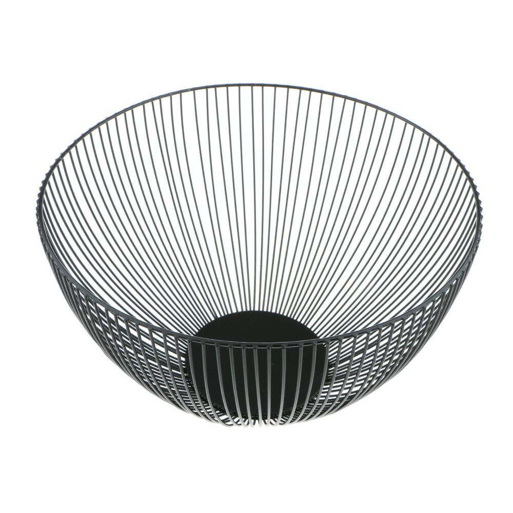 Wire Fruit Bowls Iron Wire Fruit Bowl Deep Bowl Kitchen Bread Basket Tray Dish 10x6inch Black Ebay