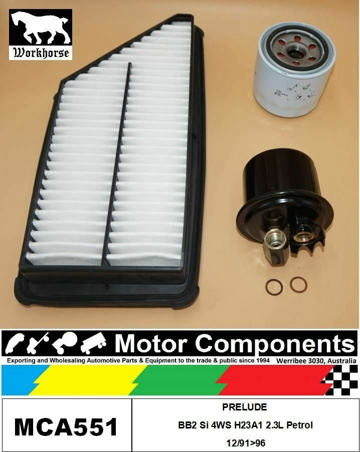 FILTER SERVICE KIT for Honda PRELUDE BB2 Si 4WS H23A1 23L Petro 12
