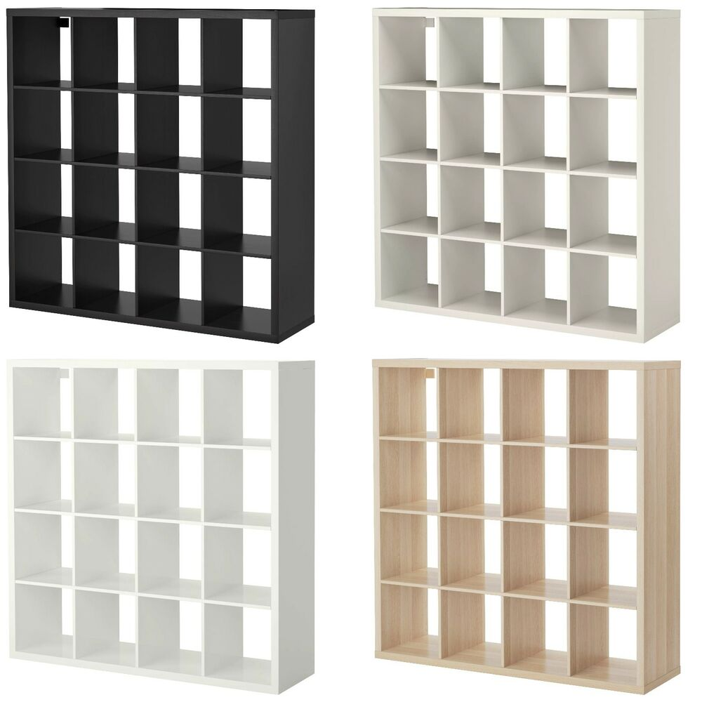 Ikea Cubes New Ikea Kallax 4x4 Shelving Unit 16 Square Cubes Bookcase Expedit Storage Ebay