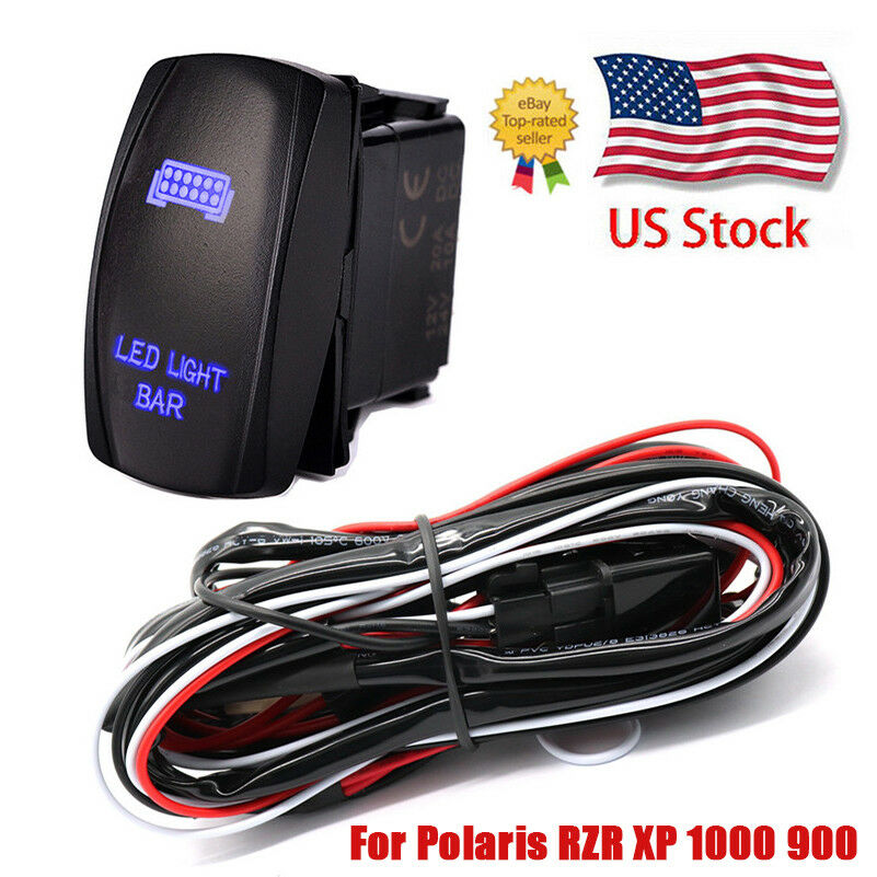 For Polaris RZR 1000 900 Ranger 12VRocker Switch Wiring Harness Led
