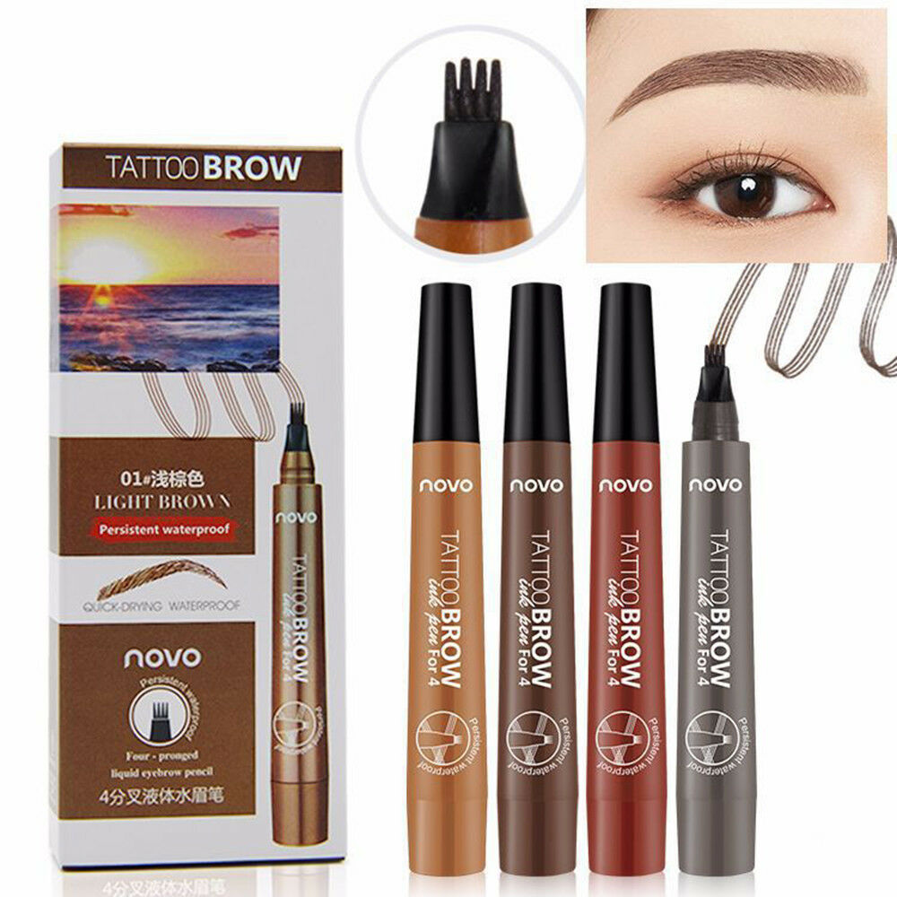 3d Micro Novo 3d Micro 4 Head Fork Tip Tattoo Eyebrow Pen Waterproof Quick Drying Ebay