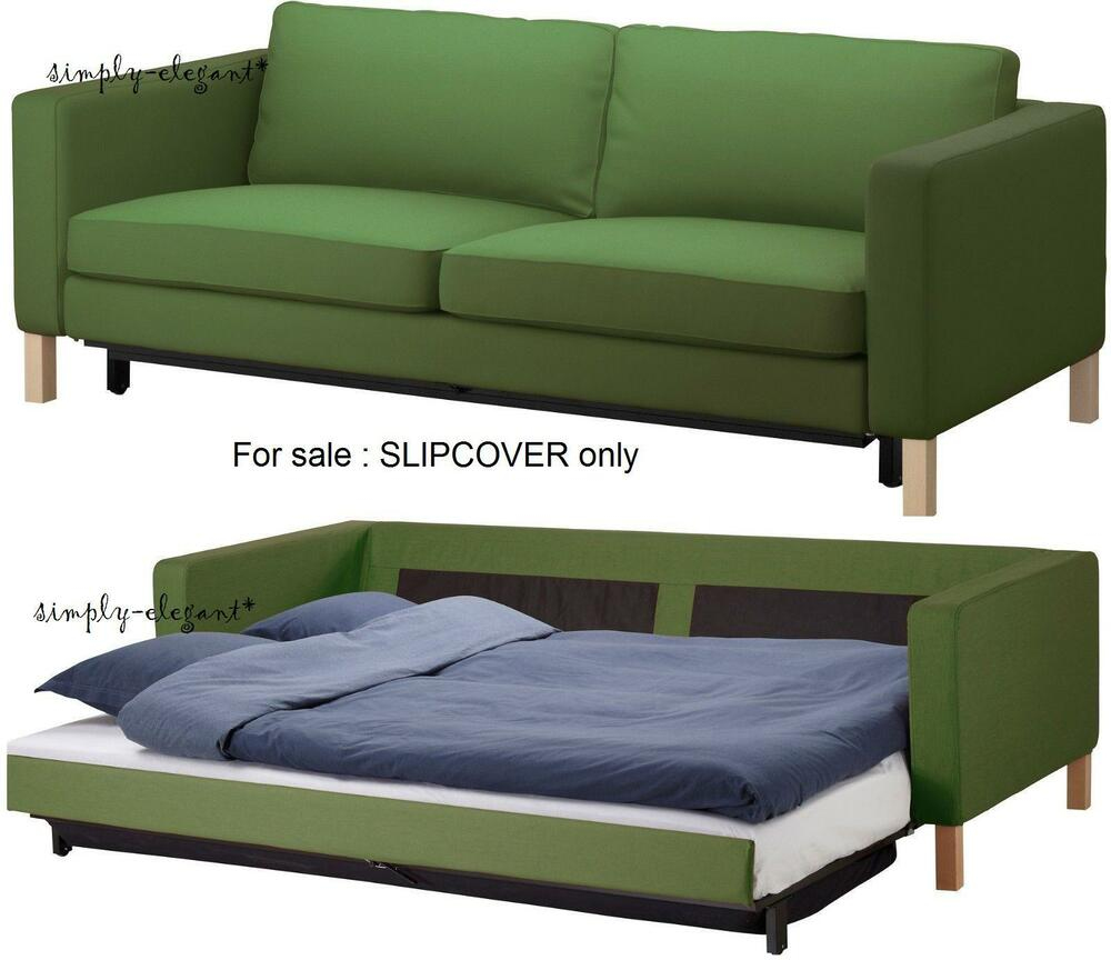 Good Quality Sofa Bed Sale Ikea Cover For Karlstad Sofabed Sofa Bed Sleeper Slipcover Sivik Green New Fast Ebay