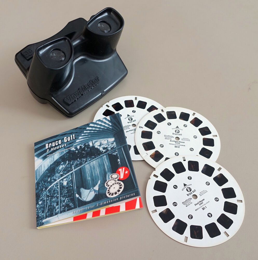 Great Gifts For Architects Bruce Goff 3 Houses 3d View Master Reels Viewer Gift Set Ebay