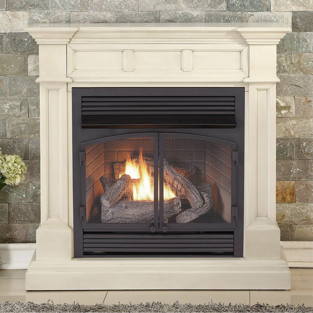 Btu Gas Fireplace Duluth Forge Dual Fuel Ventless Gas Fireplace 32 000 Btu Antique White 815192021593 Ebay