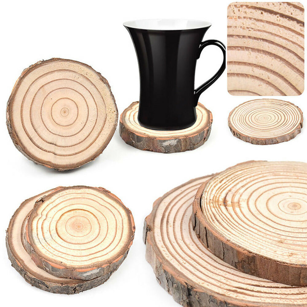 Wooden Coaster Holder Tea Coaster Cup Holder Mug Mat Coffee Drink Natural Wood Coaster Tabel Xmas Ebay