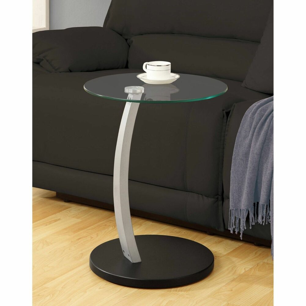 Small Round Glass End Table Glass Accent End Table Coffee Bed Night Stand Round Small Patio Deck Living Room 696580966937 Ebay