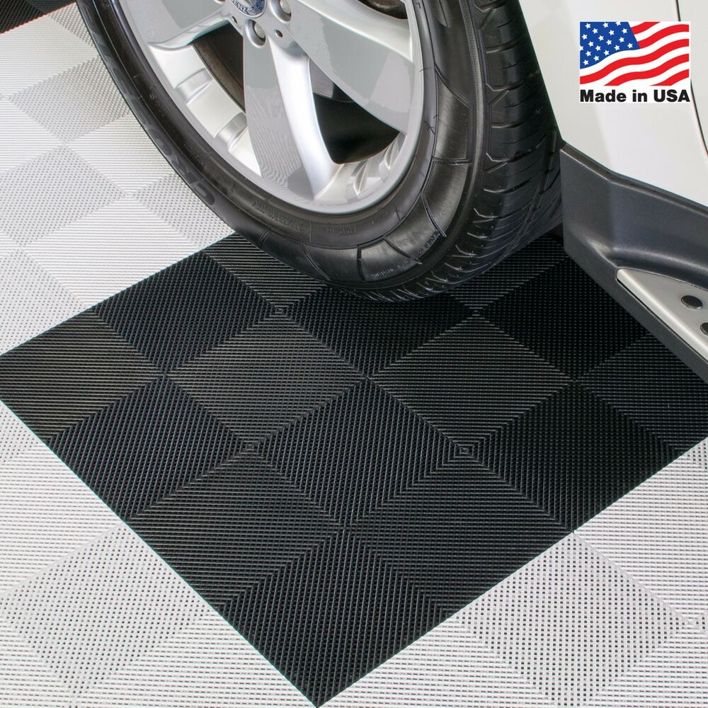 Garage Floor Tiles That Drain Garage Tiles Drain Tiles Black Made In The Usa Ebay