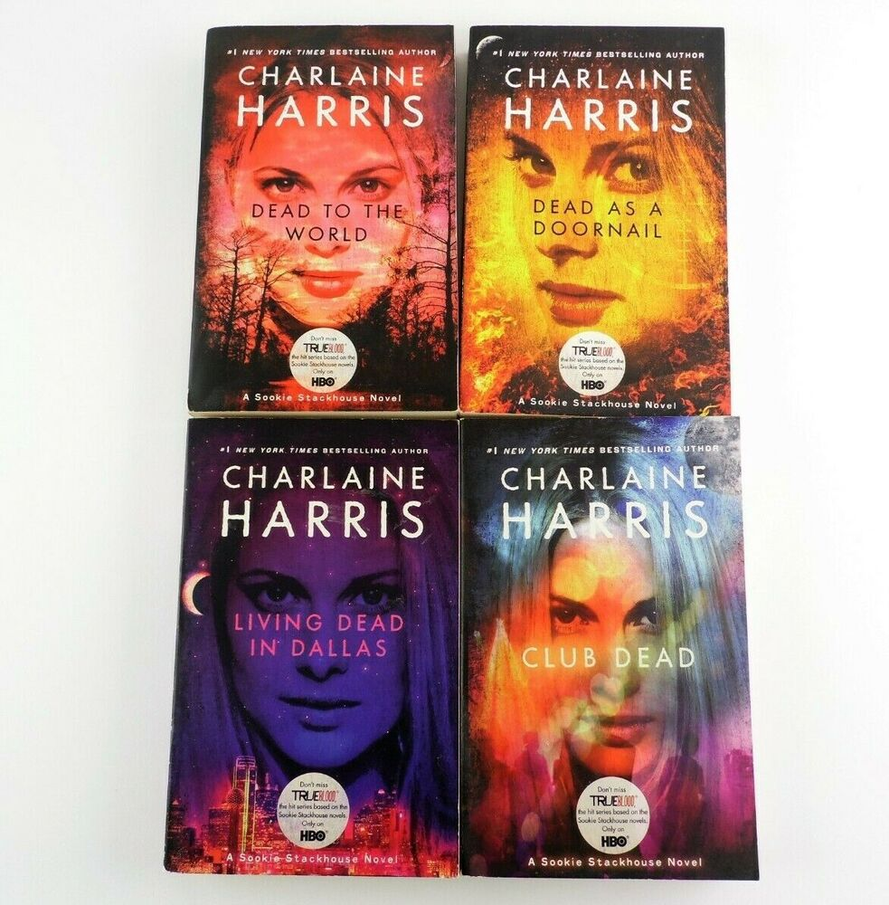 Charlaine Harris Libros 4 True Blood Hbo Series Books 2 5 Lot Charlaine Harris Dead Ebay