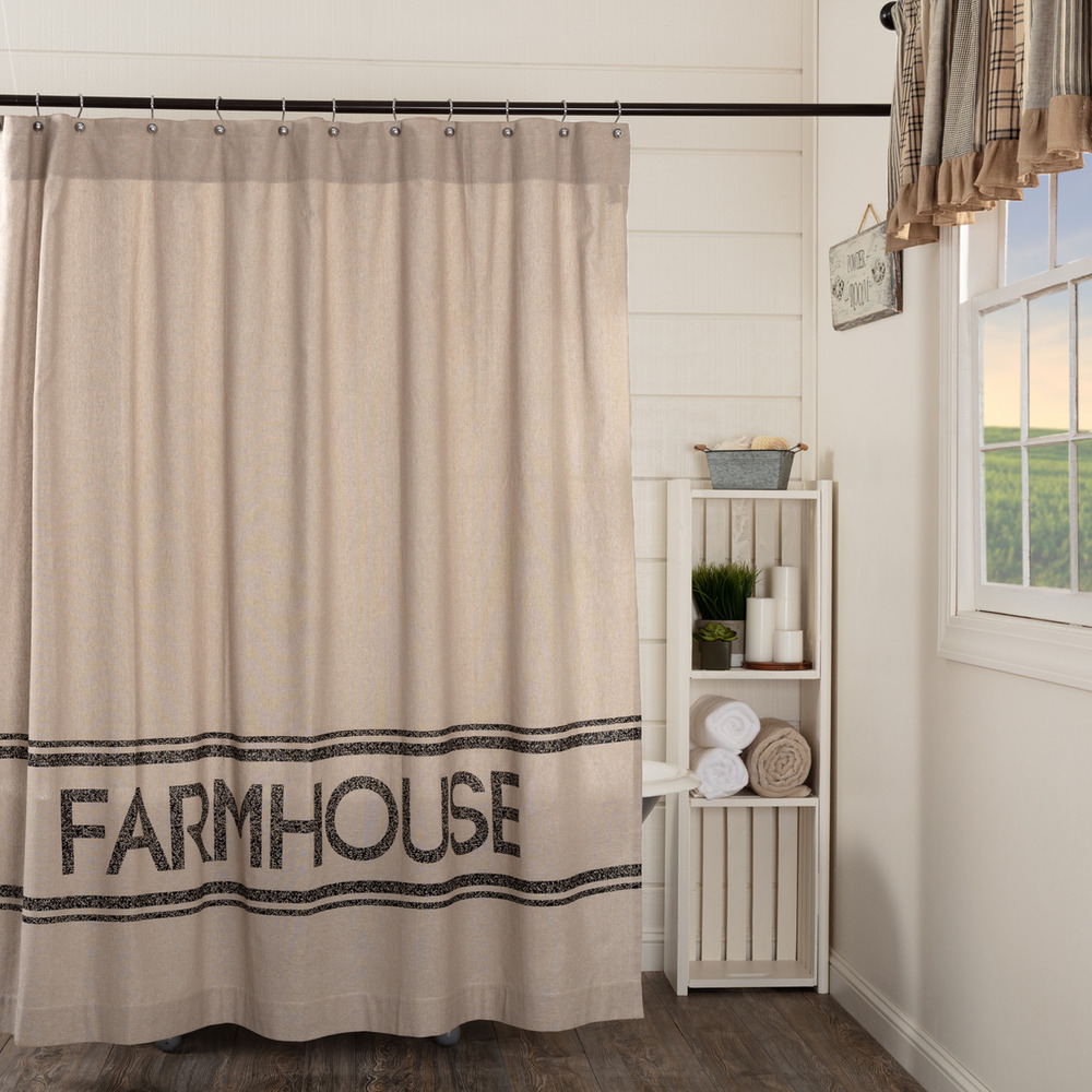 Cottage Shower Curtain Sawyer Mill Charcoal Farmhouse Country Cottage Stenciled Shower Curtain Ebay