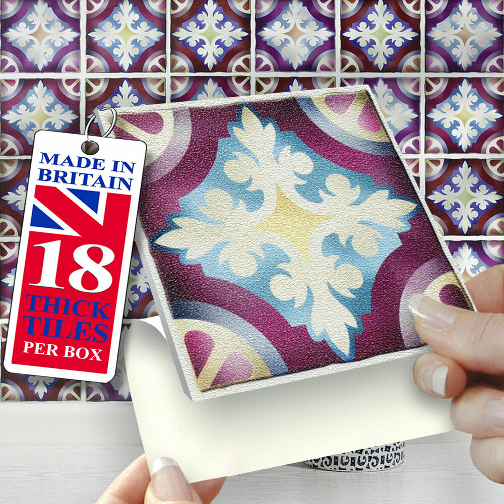 Stickers Bordeaux Stick On Self Adhesive Tiles Stickers Kitchens Bathrooms 18