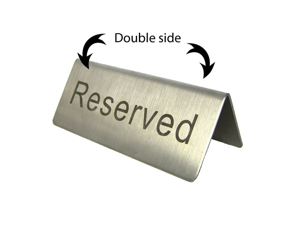 reserved table sign template free