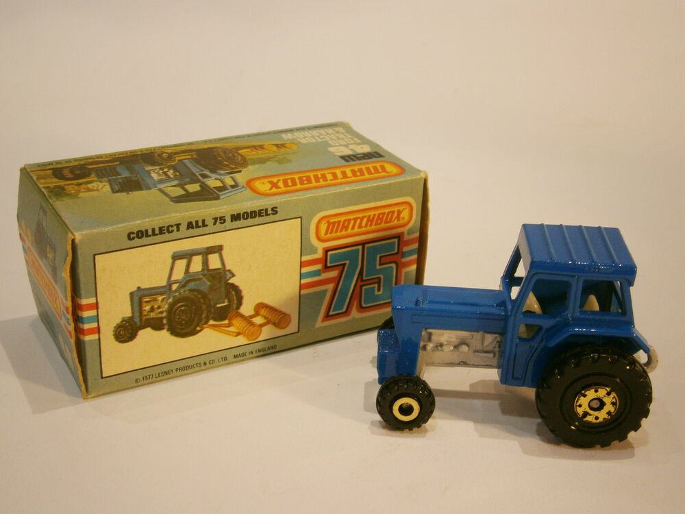 Vintage Rare Old British Toy Car Matchbox Ford Tractor 75