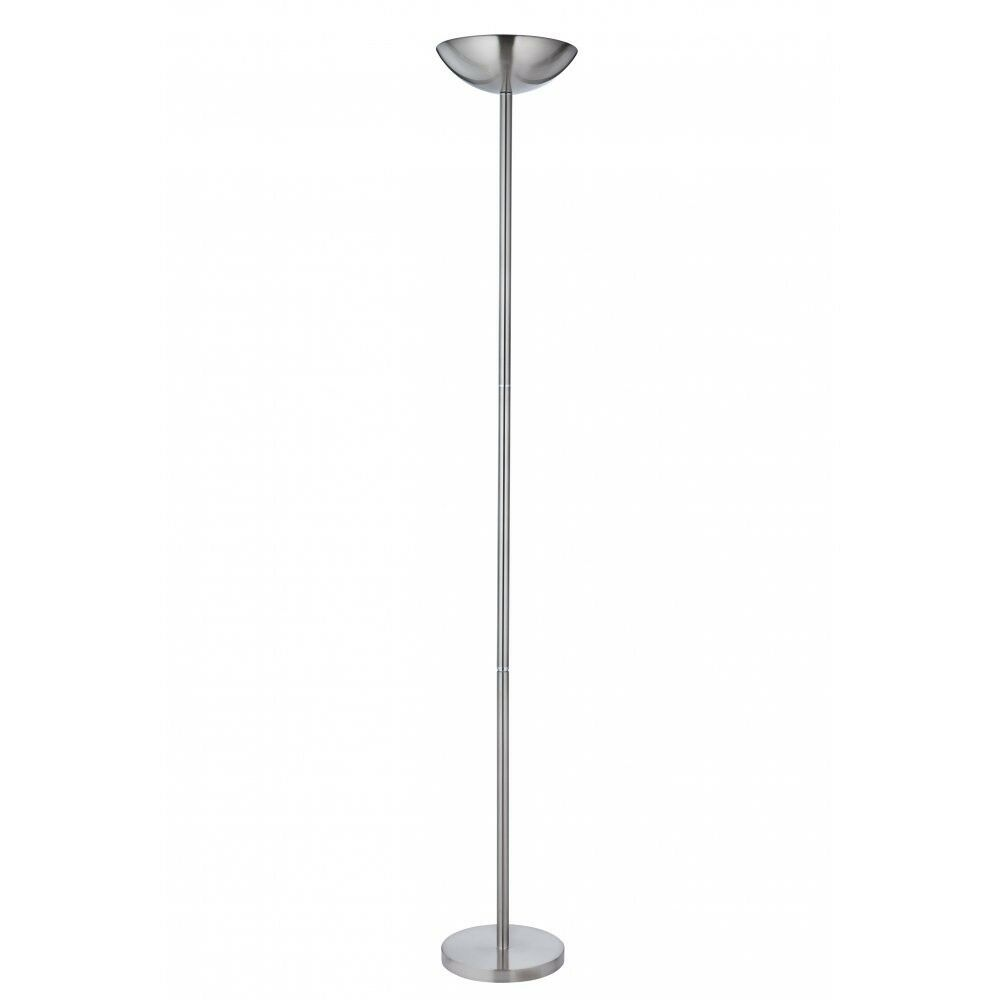 Satin Chrome Floor Lamp Uplighter With Dimmer Switch