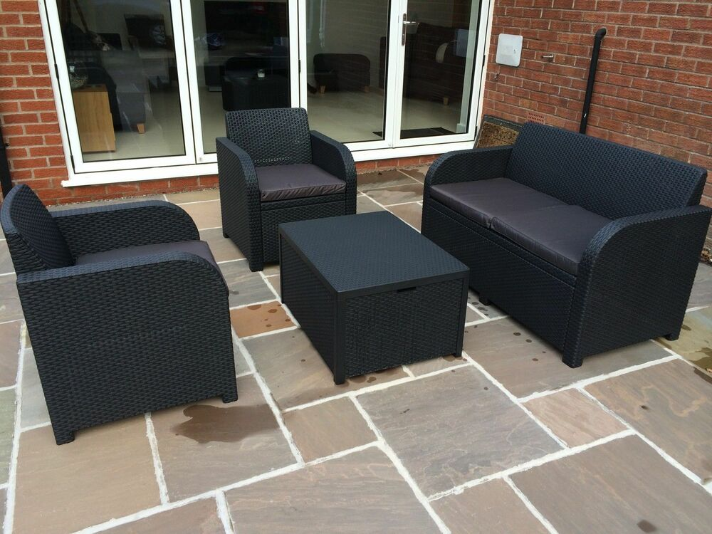 4 Seater Rattan Sofa Allibert Keter Carolina Rattan Garden Furniture Set