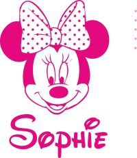 Minnie Mouse personalised wall art girls bedroom sticker ...