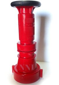 """2-1/2"""" NST FIRE HOSE COMBINATION FOG NOZZLE, 150GPM, RED ..."""