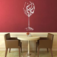 Extra Large Wine Glass Fancy Kitchen Wall Art Decal