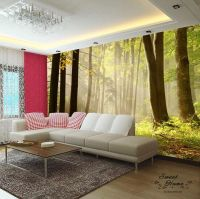Forest Morning Fog Landscapes Full Wall Mural Print Decal ...