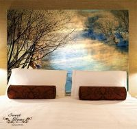 Sunset Creek Landscape Full Wall Mural Decal Print ...