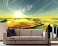 Amazing Sunset Glory Landscape Full Wall Mural Decal Print ...