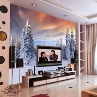 Snowy Forest Landscapes Full Wall Mural Decal Print ...