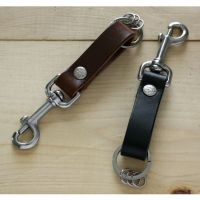 Leather Key Fob Belt Loop Holder Stainless Steel Snap Hook ...
