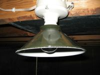 Vintage Green Porcelain Enamel Barn Shop Clamp on Bulb ...