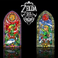 """Legend of Zelda Wind Waker 42"""" Stained Glass Wall Decal ..."""