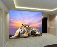 Tiger Live Wildlife 3D Full Wall Mural Large Print ...