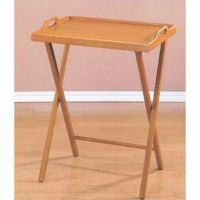 Tray Table Wooden TV Folding Furniture Snack Drink Serving ...